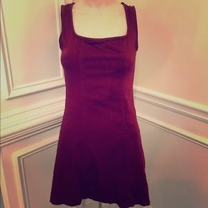 BETSEY JOHNSON Burgundy Maroon A-Line Mini Dress S